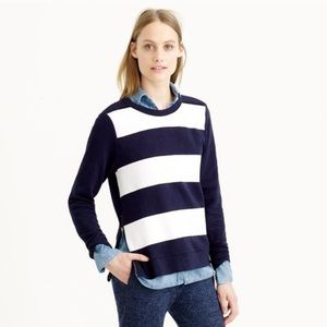 J Crew Painted striped Crew neck sweater pullover